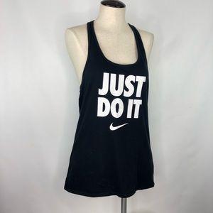 "Nike ""Just Do It"" Black Tank"